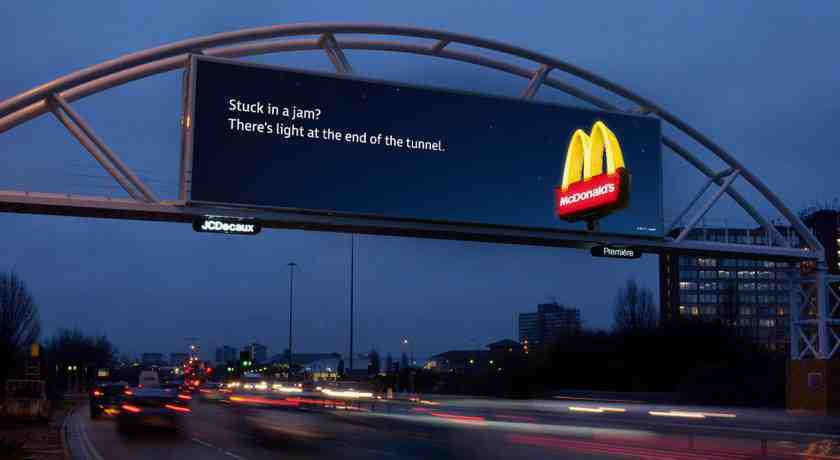 Digital out of home Ad Mac Donalds