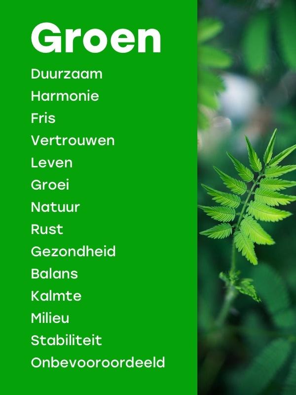Betekenis kleur groen marketing