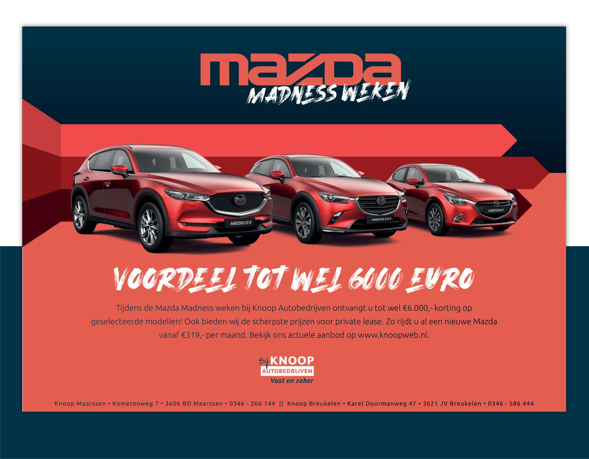 Mazda madness flyer